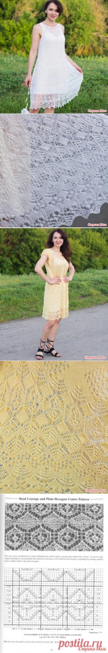 Вязаные ажурные летние платья - Вязание - Страна Мам