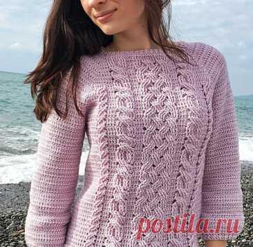Интересный пуловер крючком