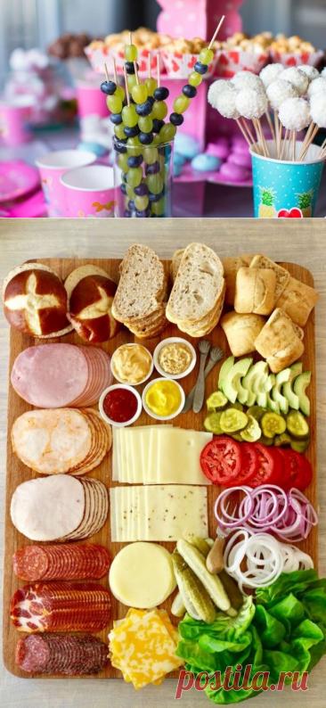 Идеи закусок на ДЕТСКИЙ день рождения, которые выглядят оригинально, а готовятся просто. | Анастасия Ефимова | Яндекс Дзен