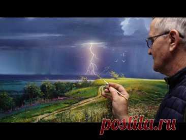 "🔴 ""Awakening"" (Summer Thunderstorm) Oil. Artist Viktor Yushkevich. #66 photos in 2021."
