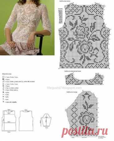 """Платье """"Розочка"""" от Олеси Масютиной. Подбор схем с розами"""