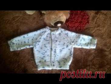 "Jacket for the newborn \""Birch\"" spokes Part 1"
