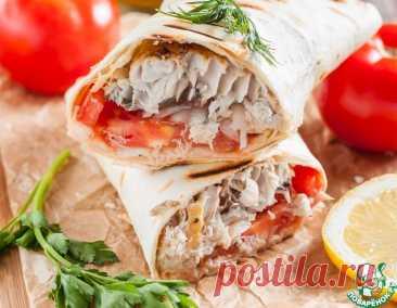 """Начиненный лаваш по-турецки """"Рыба с хлебом"""" – кулинарный рецепт"""