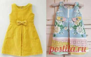 Детское плиссированное платье - бесплатные выкройки