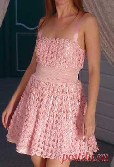 Нежный узор для ажурного платья