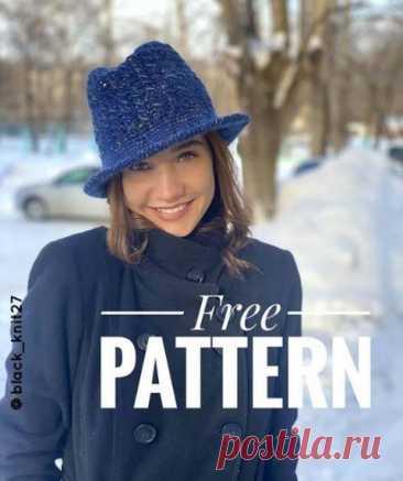 Теплая шляпа или панама крючком, бесплатное описание