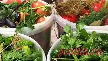 Бочковые овощи в ведрах!💥 Быстро и вкусно!👍