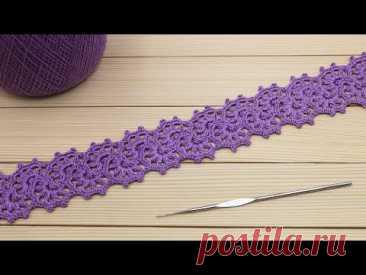 Очень простое ЛЕНТОЧНОЕ КРУЖЕВО вязание крючком для начинающих СОЕДИНЕНИЕ ленточного кружева CROCHET