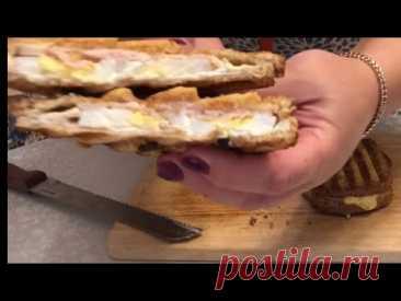 Горячие бутерброды в электро гриле TeFaL