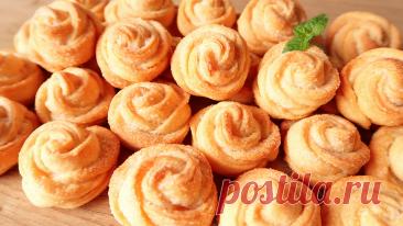 Печенье: красивые розочки, делюсь рецептом. Выпечка без яиц | Кухня от Татьяны | Яндекс Дзен