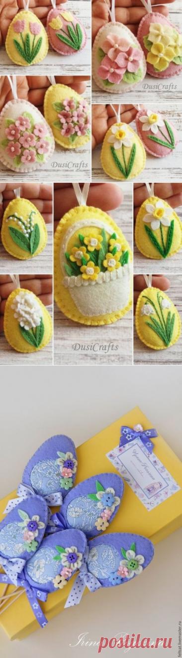 Los huevos de Pascua del fieltro