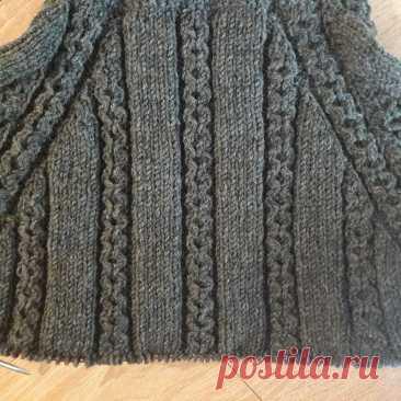 Мужской свитер спицами. Часть № 3 | SVG Вязание спицами и крючком | Яндекс Дзен