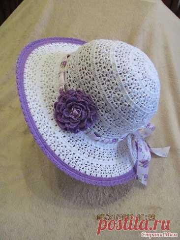 Схема вязания нарядной летней шляпки