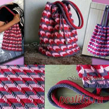 Вяжем модную сумку   Магия Вязания / Knitting Magic   Яндекс Дзен