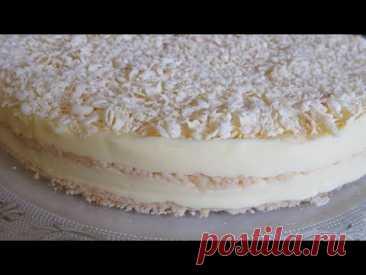 Торт ПЛОМБИР Без Выпечки. Фантастически Вкусный!!! Он Просто ТАЕТ во рту! Популярный Рецепт!