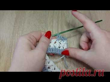 🧶3D СЕТОЧКА узор крючком для пледа./ 3D MESH pattern crochet for a plaid.