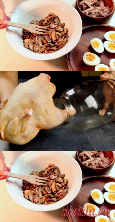 Сытный зимний салат заменил весь обед, а использовали только яйца, грибы и банку консервов - Steak Lovers - медиаплатформа МирТесен