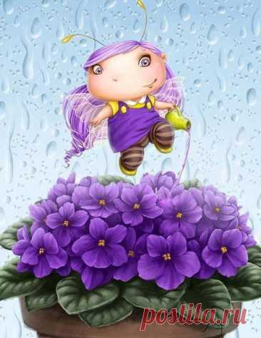 Прекрасен мир… а мы его частицы… Мы-капельки росы на розовом листе… А, может, это всё нам только снится, Но, лучше-наяву, а не во сне…  Художник Юлия Селина