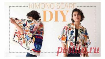 Простая выкройка кимоно. Удобная и универсальная выкройка кимоно: подойдёт для жакета (можно осеннего, из шерсти) или блузки. Кроме выкройки, есть пошаговая инструкция по сборке изделия:Читать дальше