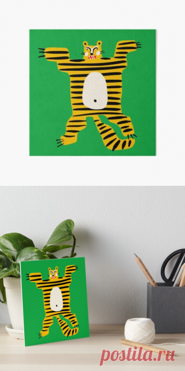"""The tiger"" Art Board Print by panova 