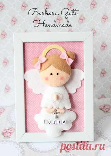 Ангелочки из фетра Ангелочки из фетраАнгелочки из фетра могут стать как игрушкой, так и мобилем в детской комнате.