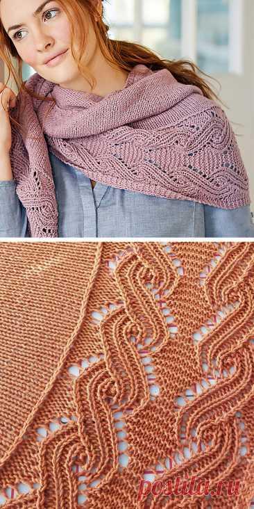 Вязание шали и накидки Узор - Вязание петли