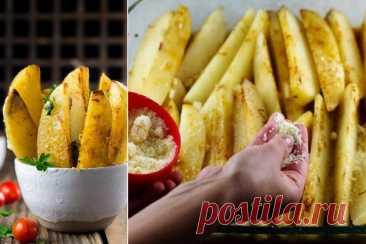 Ароматный запеченный картофель с розмарином и чесноком