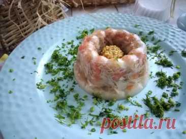 Заливное из мяса курицы на подушке из сливочного хрена - Четыре вкуса - медиаплатформа МирТесен