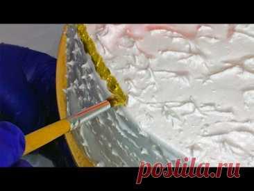 Шикарное украшение торта без выравнивания! Елена Солнцева