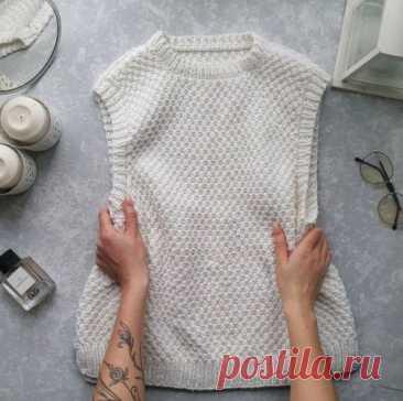 Женский жилет спицами, бесплатное описание, Вязание для женщин