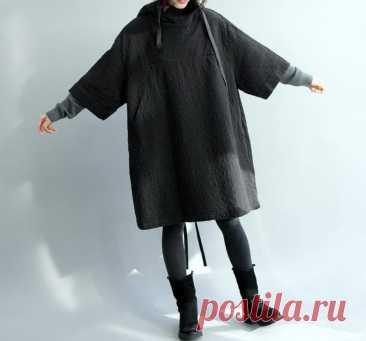 Women Hooded dress Oversize cloak Dress Maternity Clothing | Etsy
