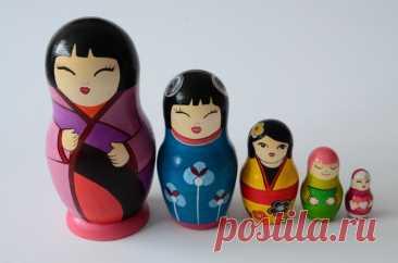 Русская Матрешка Бабушка Деревянные вложенные куклы   Etsy