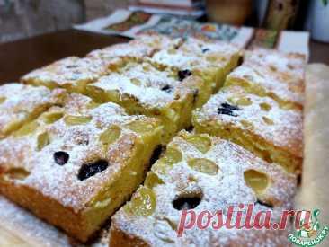Пирог с виноградом Кулинарный рецепт(***)