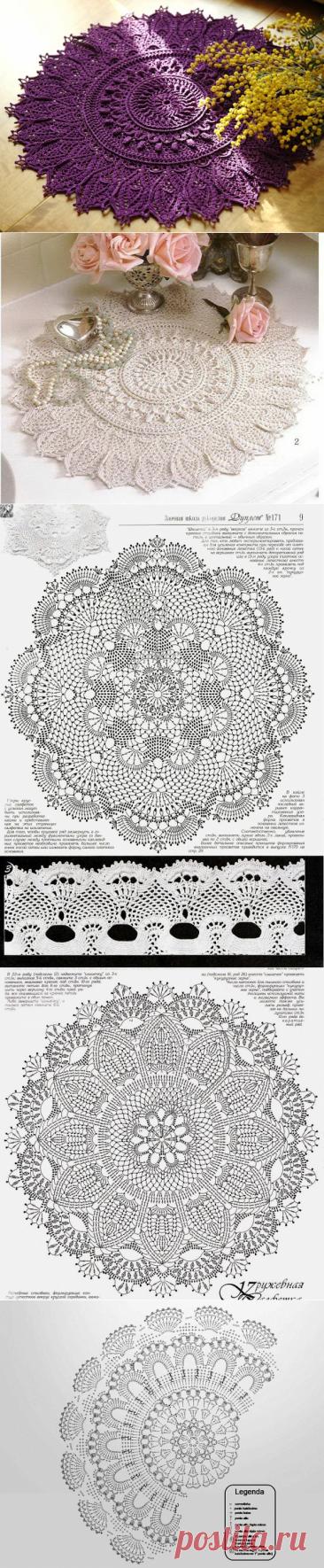 Вязаные салфетки крючком со схемами и описанием от patricia kristoffersen