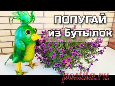 Как сделать попугая из пластиковых бутылок для декора дачи и сада