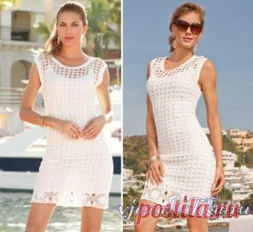 Knitted women's dresses and sundresses, schemes of sundresses – Вязалочка.ру