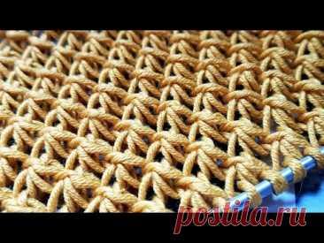 "Бомбический узор к лету - ""Объёмные лепестки"" 🌱 knitting pattern. - YouTube"