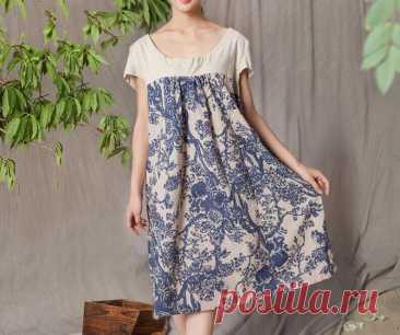 Linen Dresses Short sleeve dress Women Summer dress midi   Etsy