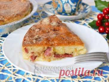 Отличный рецепт заливного пирога на кефире с колбасой и луком, на скорую руку. Беспроигрышный вариант выпечки на каждый день.