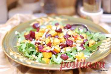 Салат из запеченных свеклы и тыквы - Нина Фомина, Cooking Palette
