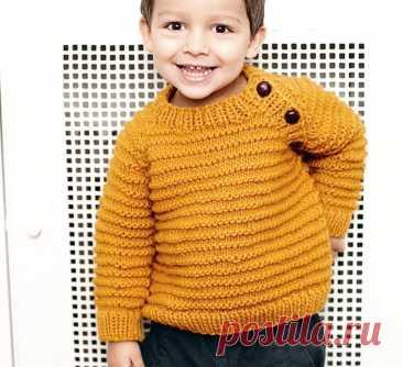 Джемпер цвета карри для мальчика