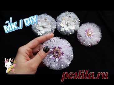 Самая Простая и Популярная модель/ 2 варианта декора  DIY bow flower tulle
