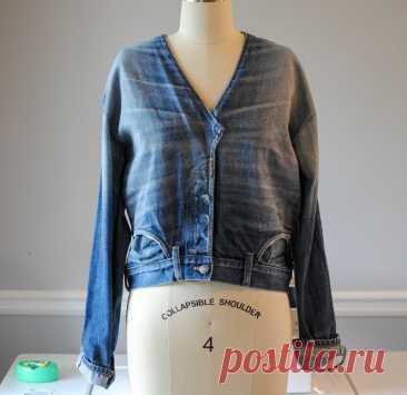 Джинсы в джинсовую куртку