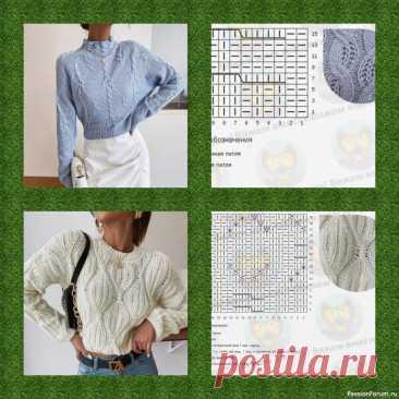 Несколько схем и изделия из них | Вязание для женщин спицами. Схемы вязания спицами