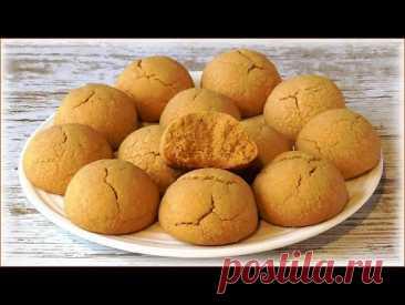 Потрясающее печенье из жареной муки! (Вкус орехов и халвы)