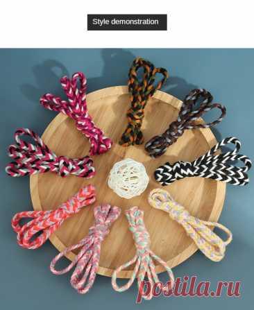 5 м 8 мм хлопчатобумажная веревка плоская 3 нити плетеная веревка витая веревка для шнурка пояс ремень шляпа декоративная тесьма DIY ремесло шнур|Шнуры| | АлиЭкспресс