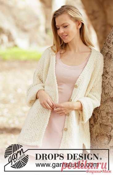 Жакет из буклированной пряжи от Дропс дизайн - Вязание - Страна Мам