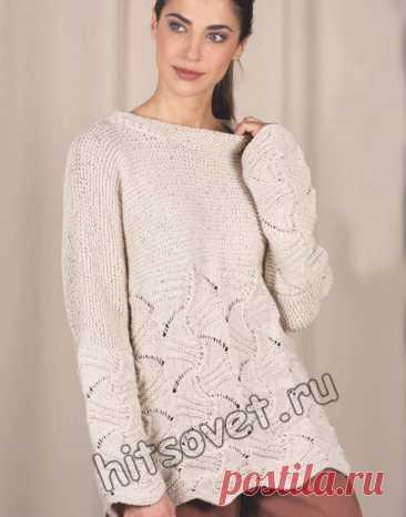 Модная туника с красивым ажурным узором - Хитсовет