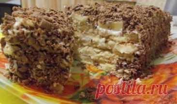 Творожный торт с печеньем без выпечки из серии гости на пороге!