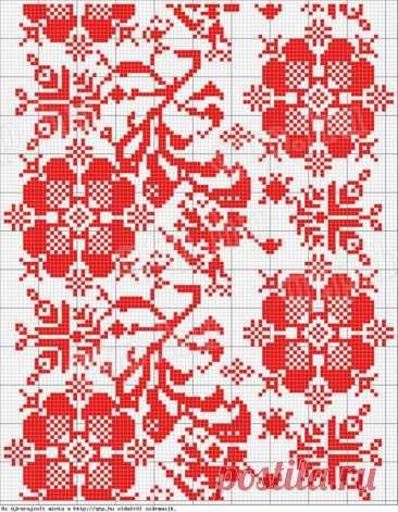 Вышивка крестиком: цветочно- орнаментальные схемы